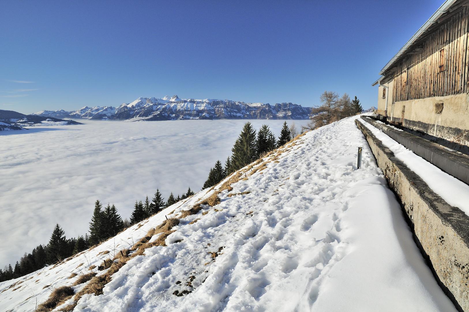 Blick von der Alpe Bargella ...