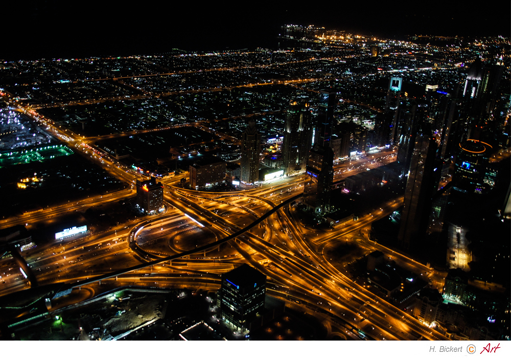 Blick von der Aussichtsplatform 440m Burj Khalifa 02