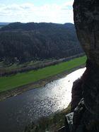 Blick von der Bastei auf die Elbe I