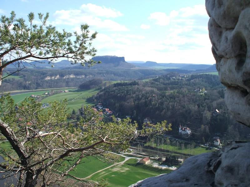 Blick von der Bastei auf die Elbe II