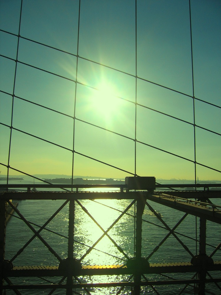 Blick von der Brooklin Brigde New York