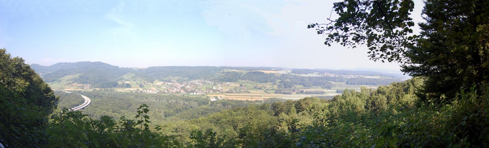 Blick von der Burg Habsburg