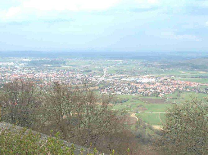 Blick von der Burg Hohenzollern