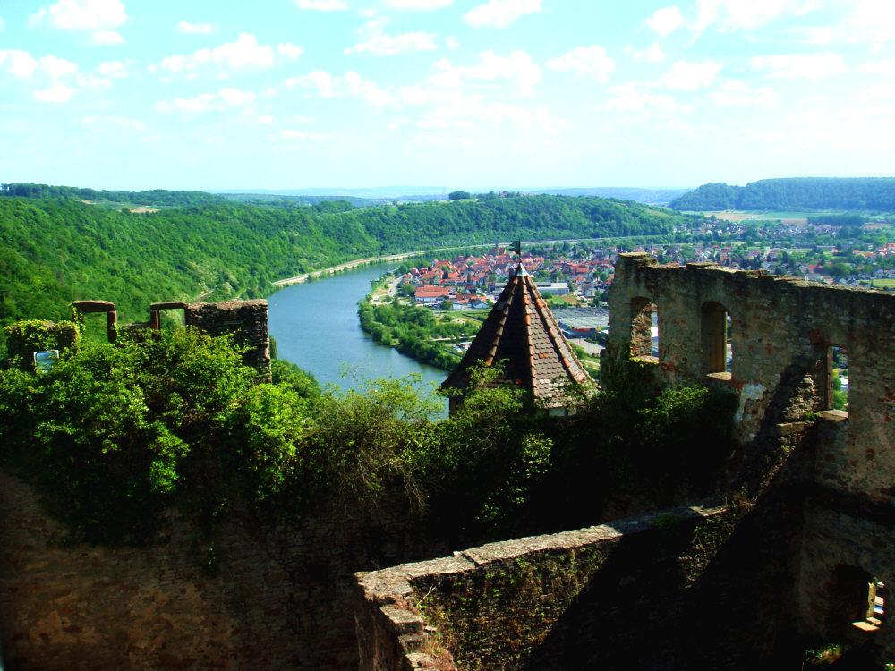Blick von der Burg Hornberg