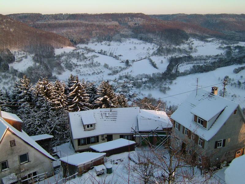 Blick von der Burg Maienfels