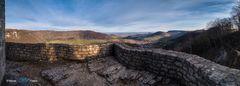 Blick von der Burgruine Reußenstein...