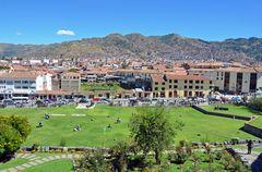 Blick von der Compania de Jesus auf Cusco.