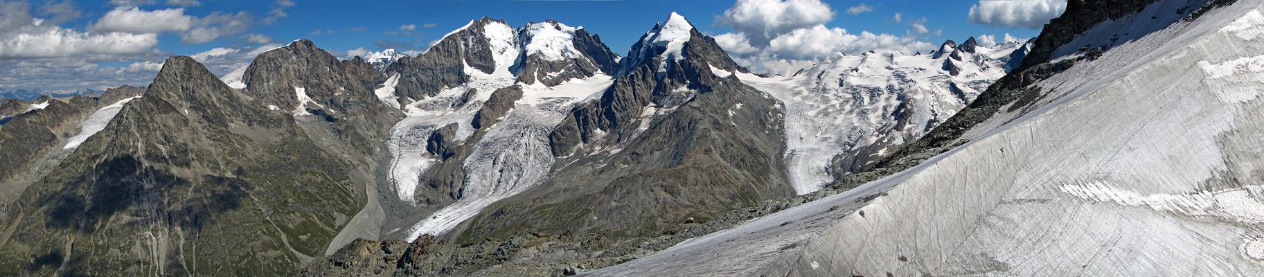 Blick von der Corvatsch Bergstation