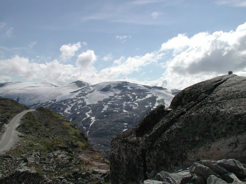 Blick von der Dalsnibba bei Geiranger