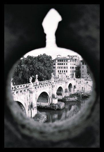 Blick von der Engelsburg in Rom