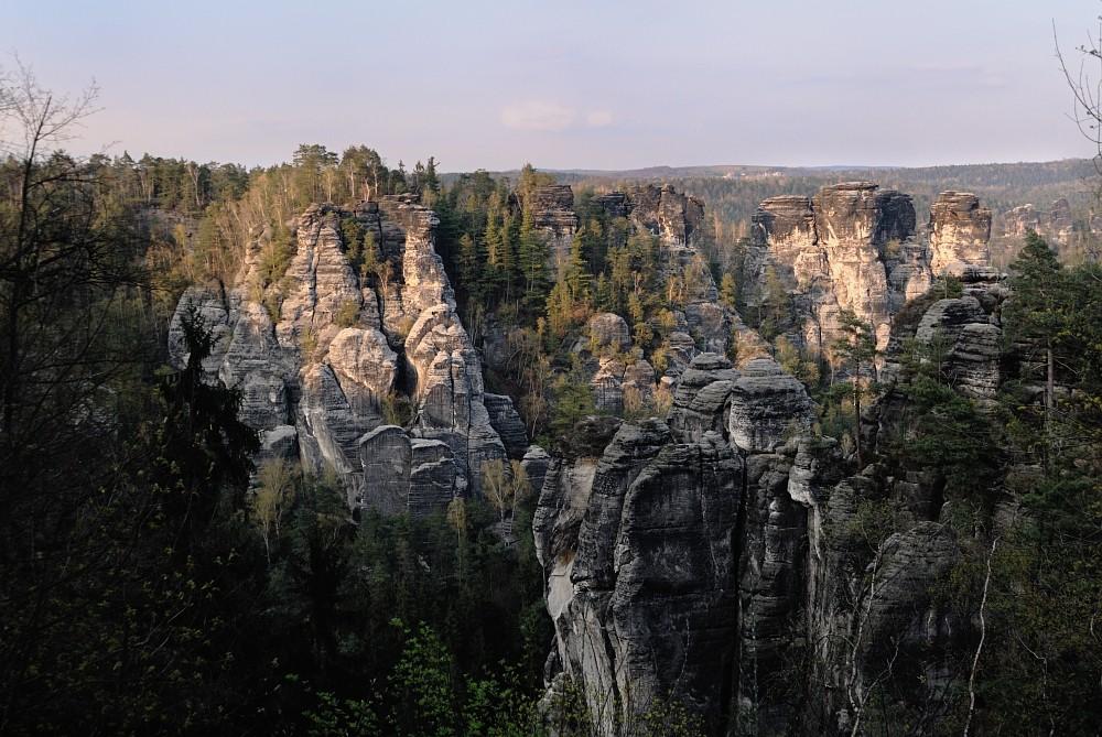 Blick von der Felsenburg/Bastei