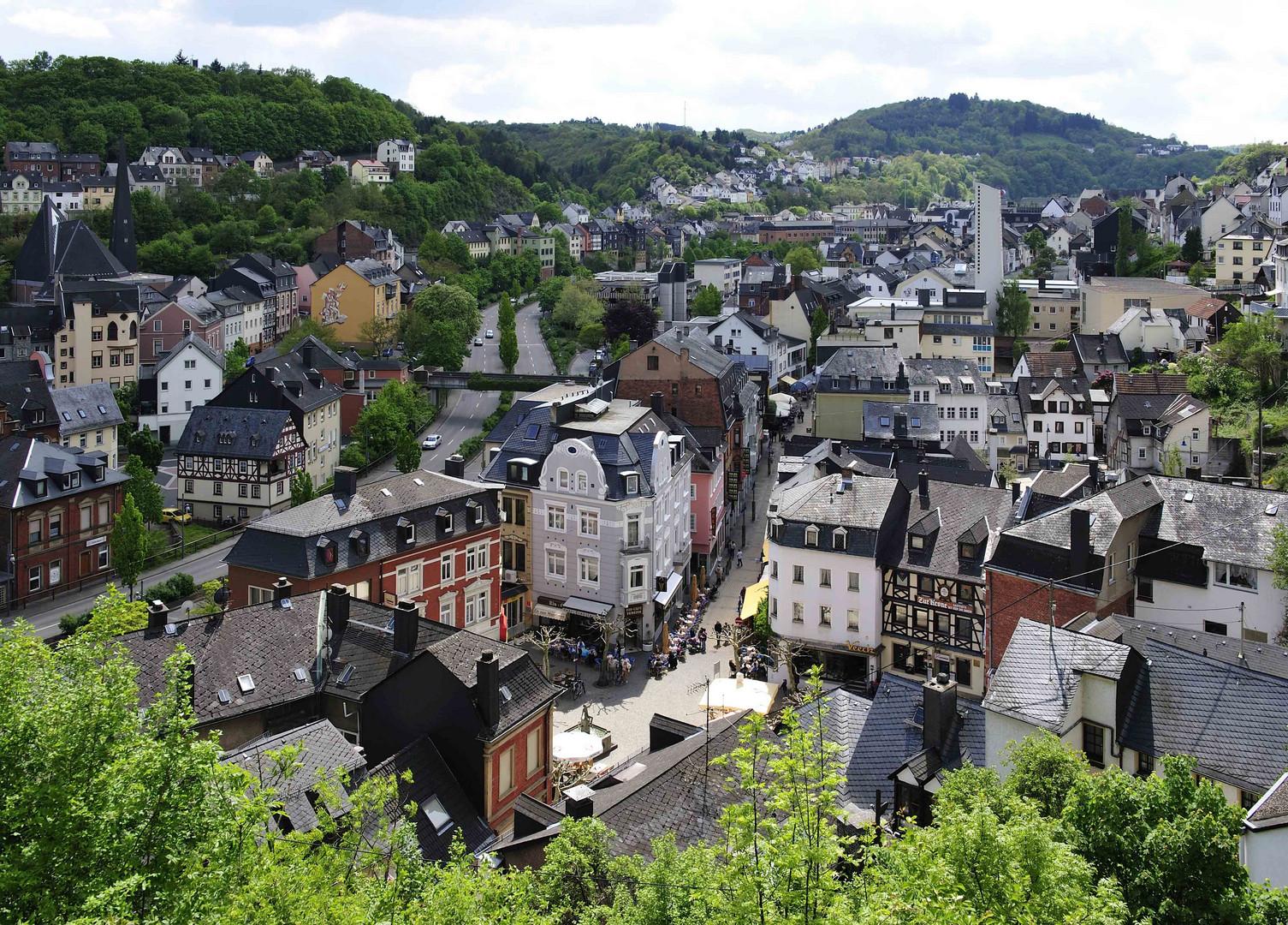 blick von der felsenkirche auf idar oberstein foto bild deutschland europe rheinland pfalz. Black Bedroom Furniture Sets. Home Design Ideas