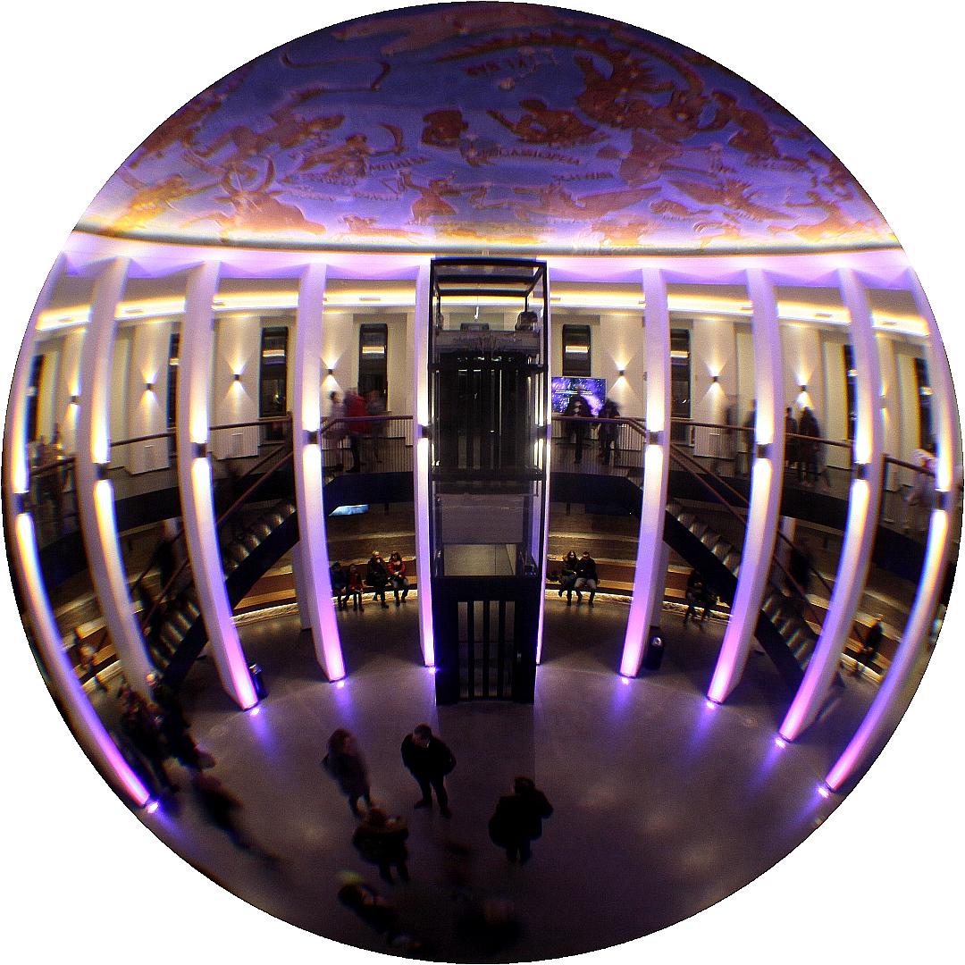 Blick von der Galerie