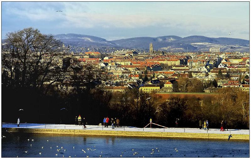 Blick von der Gloriette auf den Westen Wiens