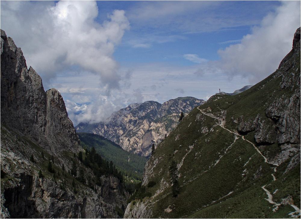 Blick von der Grasleitenhütte