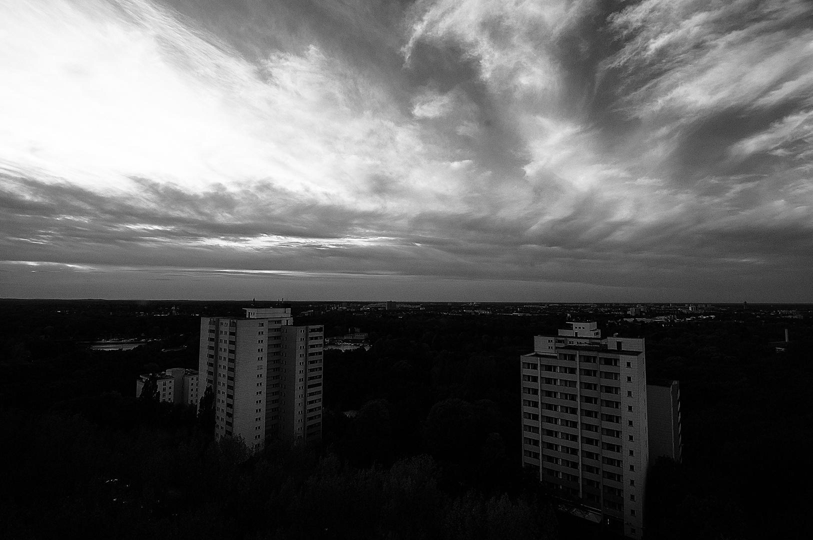 Blick von der Hochhaussiedlung Belvedere