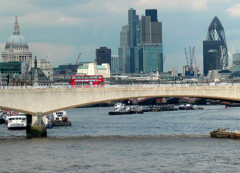 Blick von der Hungerford-Bridge