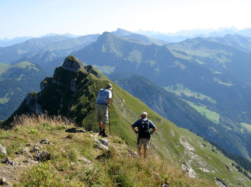 Blick von der KANISFLUH im Bregenzer Wald