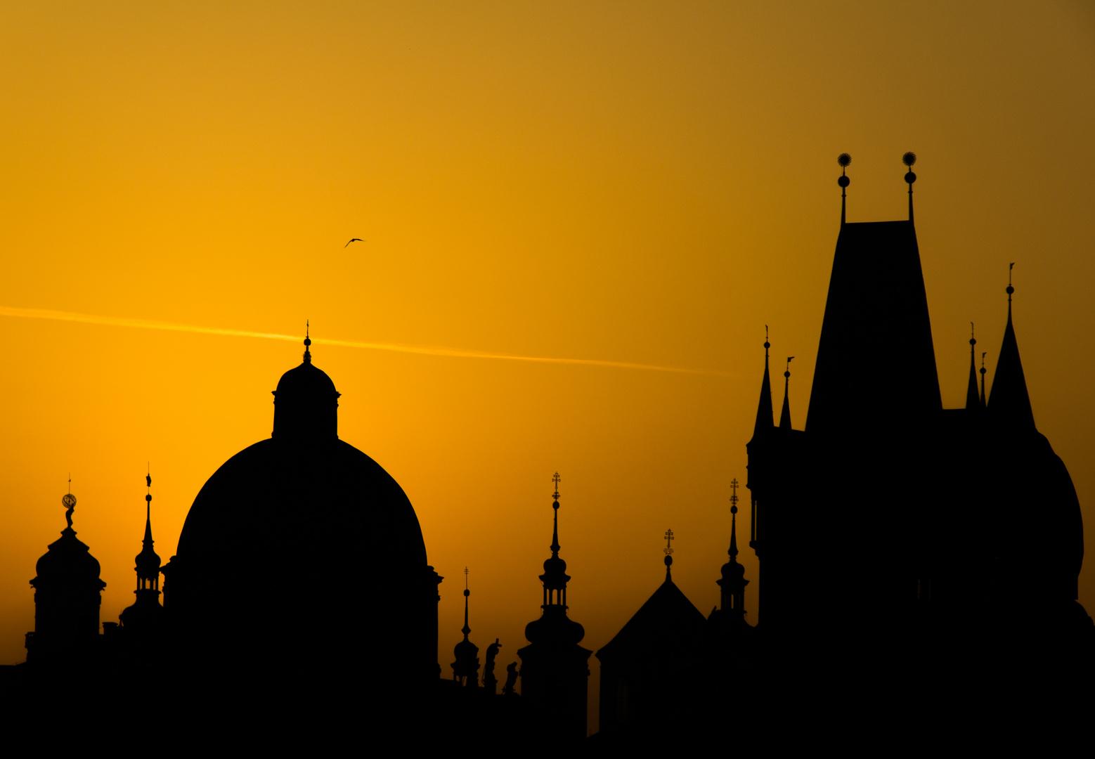 Blick von der Karlsbrücke früh 07:20