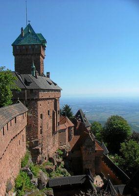 Blick von der Königsbourg im Elsass