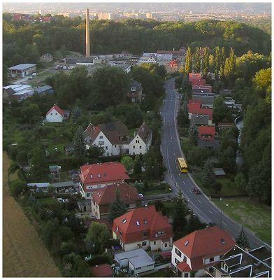 Blick von der Lockwitztalbrücke