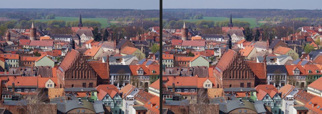 Blick von der Nikolaikirche in Jüterbog (3D-X-View)