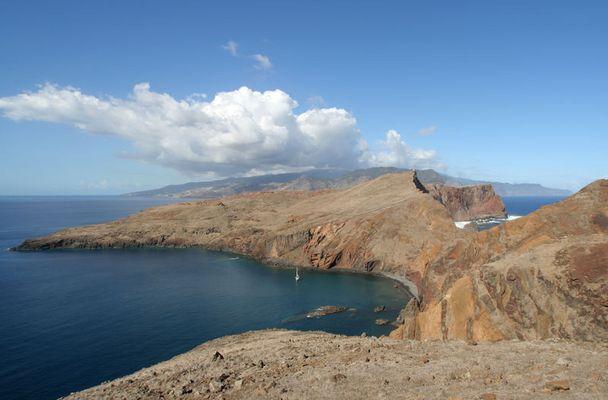 Blick von der östlichen Spitze Ponta de Sao Lourenco