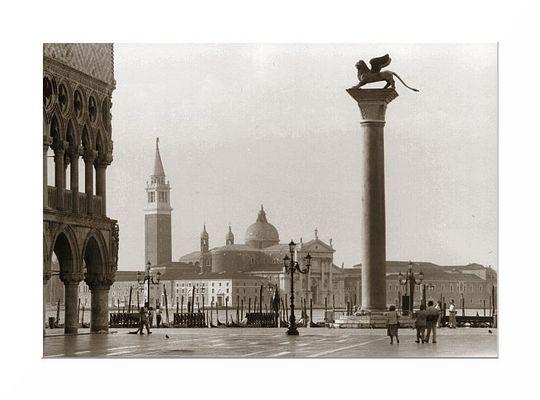 Blick von der Piacetta in Venedig