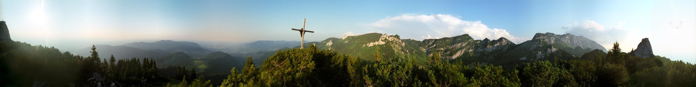 Blick von der Probstwand auf die Benediktenwand