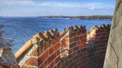Blick von der Reppiner Burg auf den Schweriner See
