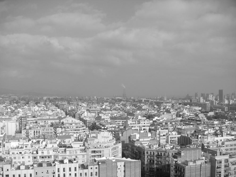 Blick von der Sagrada Família