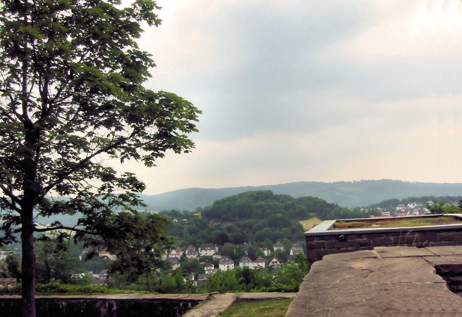 Blick von der Schloßruine Arnsberg