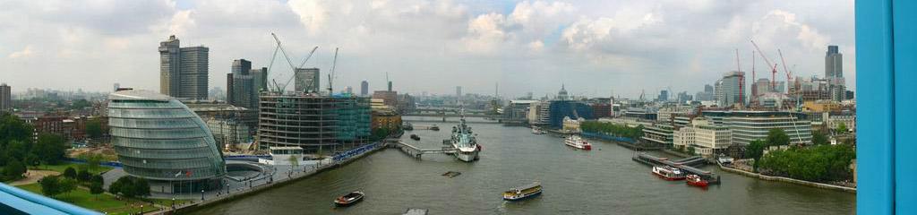 Blick von der Tower-Bridge, London