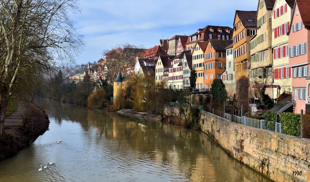 Blick von der Tübinger Neckarbrücke