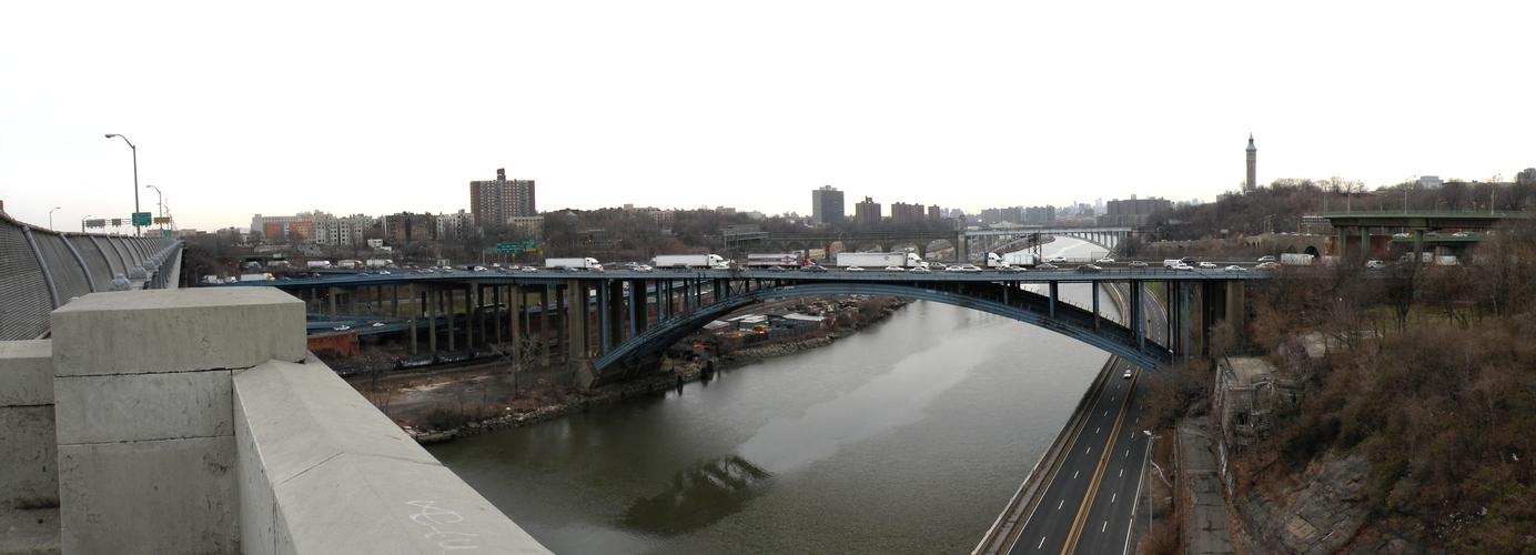 Blick von der Washington Bridge nach Süden