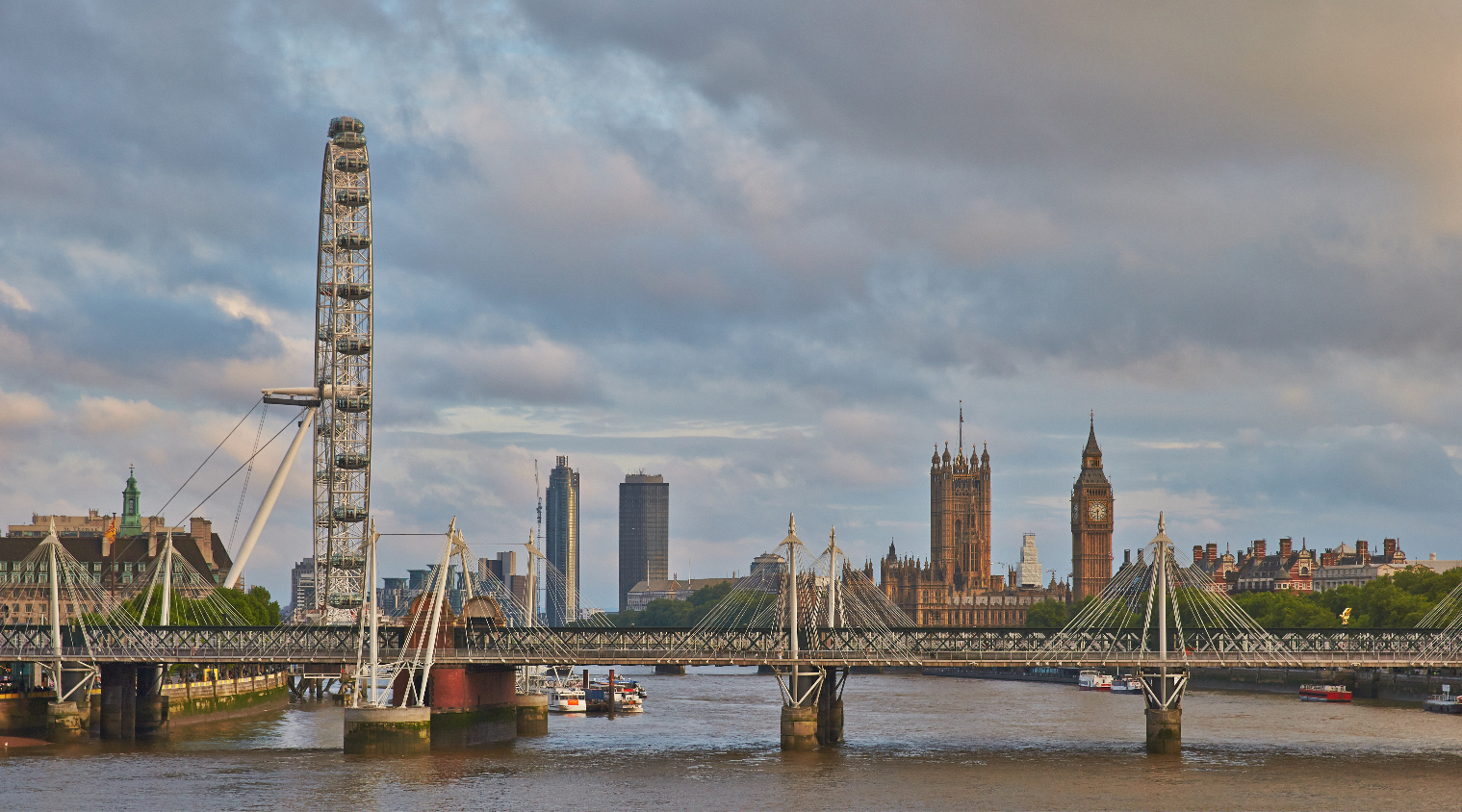 Blick von der Waterloo Bridge, London