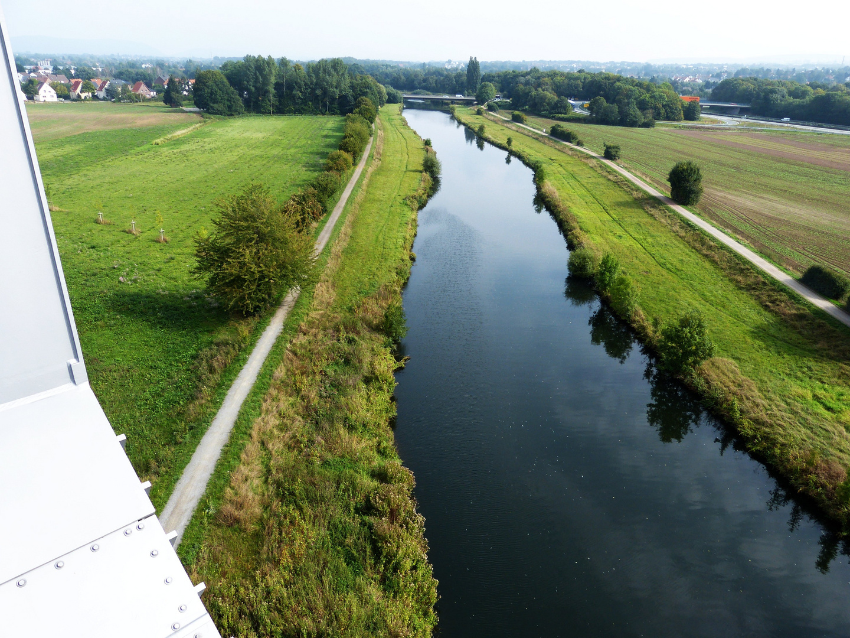 Blick von der Werrebrücke