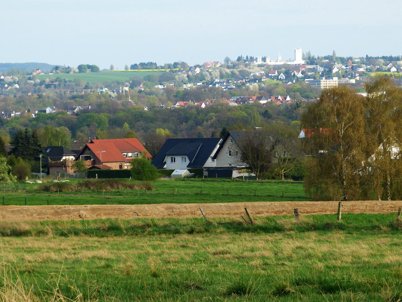 Blick von der Werster Heide über Bad Oeynhausen bis zu Lohe und Oberbecksen
