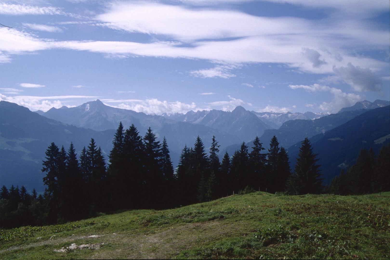 Blick von der Zillertaler Höhenstraße