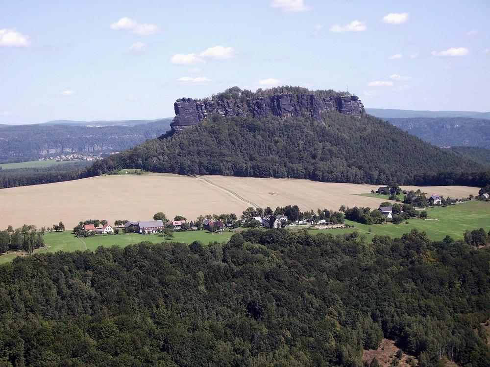 Blick von Festung Königstein auf den Lilienstein