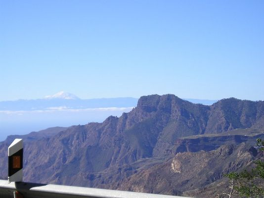 Blick von Gran Canaria auf den Teide