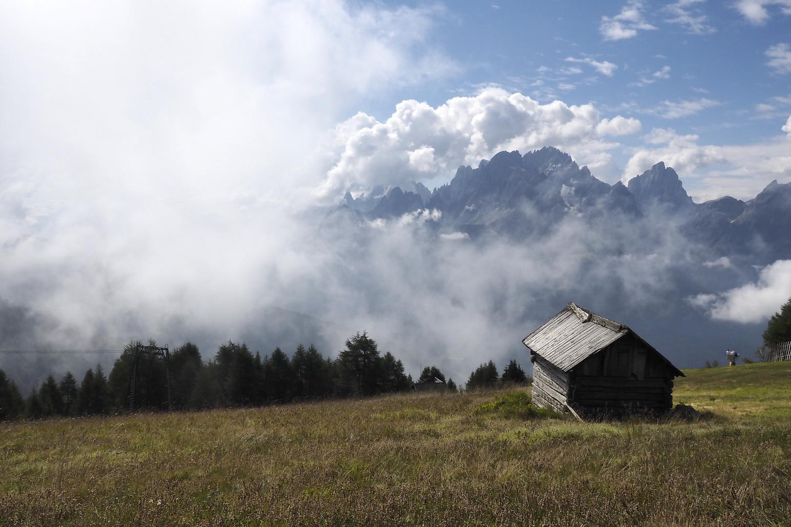 Blick von Helm auf die Sextener Dolomiten
