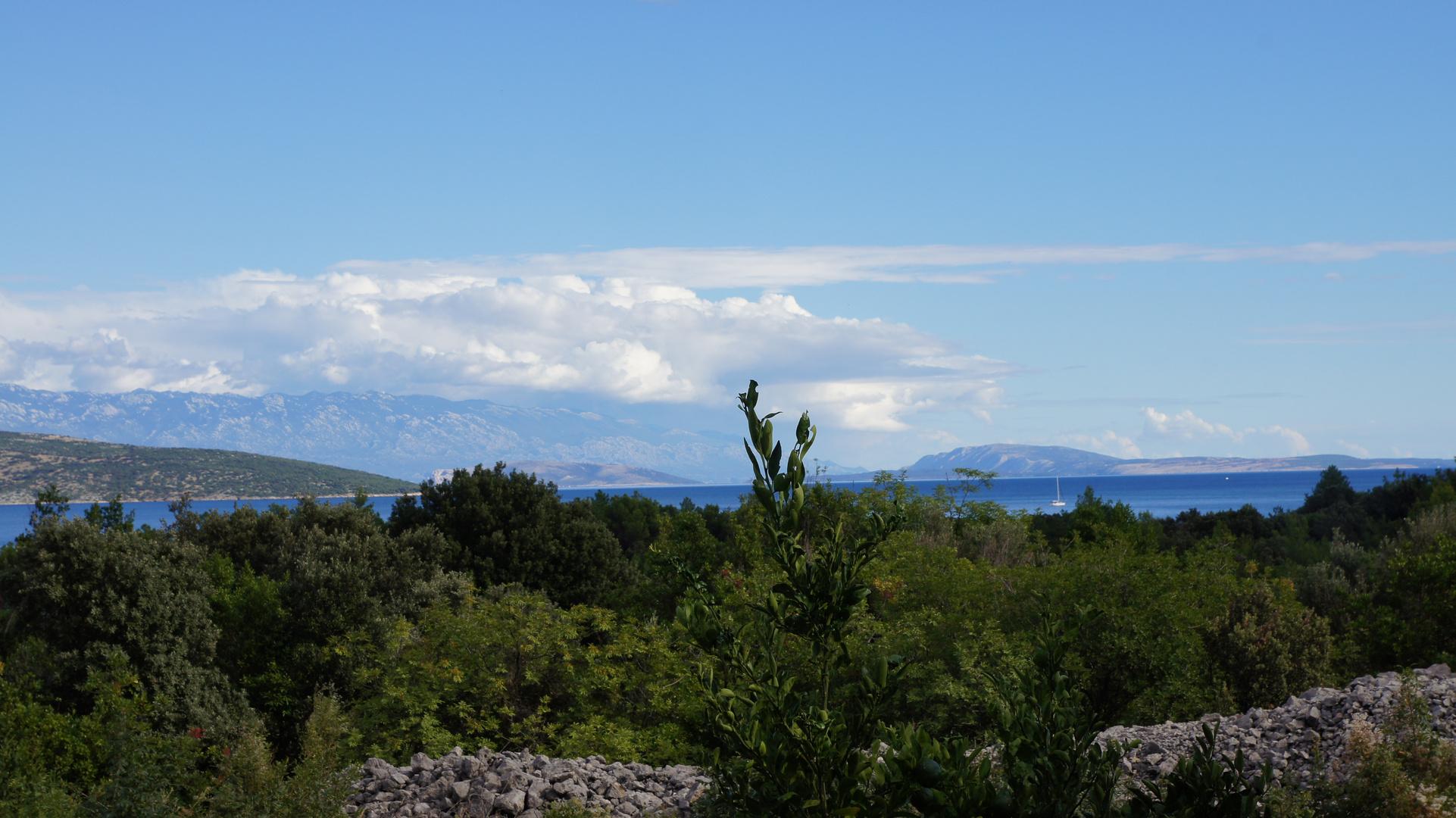 Blick von Krk auf die Adria