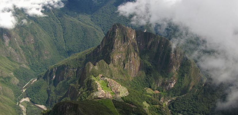 Blick von Montaña Machupicchu