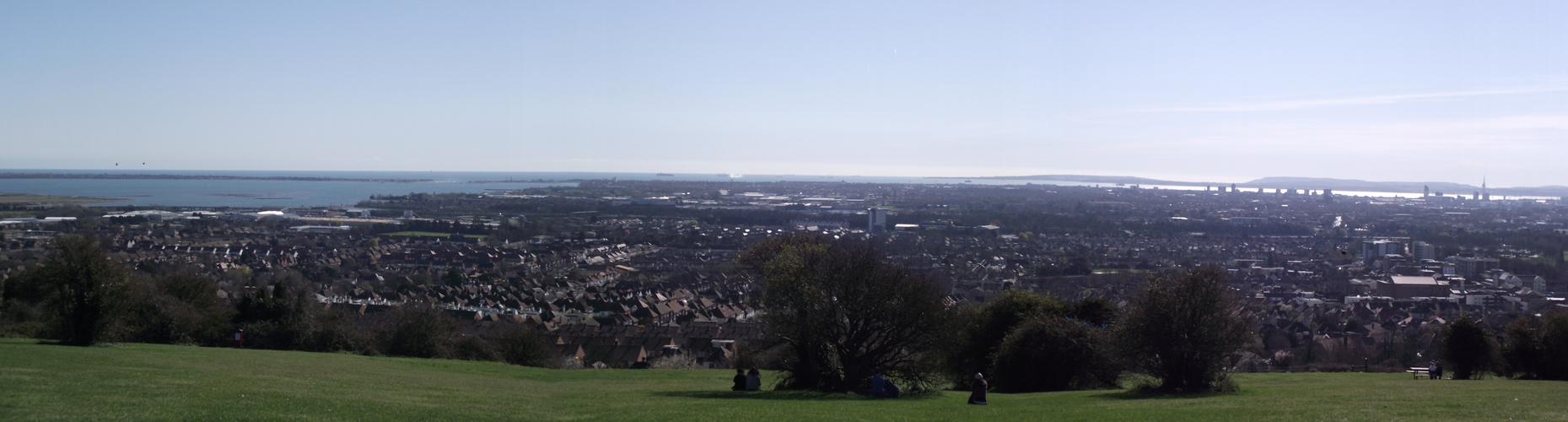 Blick von Portsdown Hill