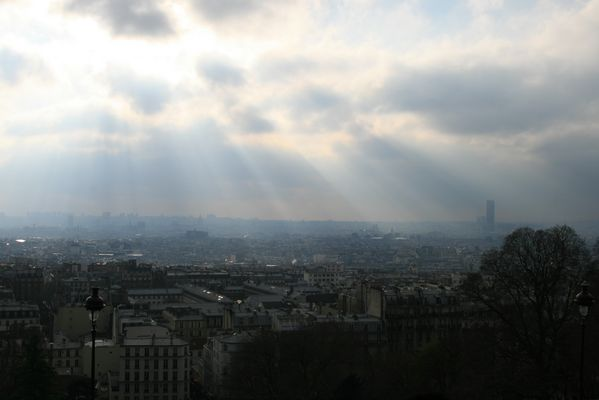 Blick von Sacre-Coeur über Paris...