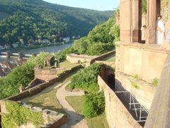 Blick von Schloss Heidelberg