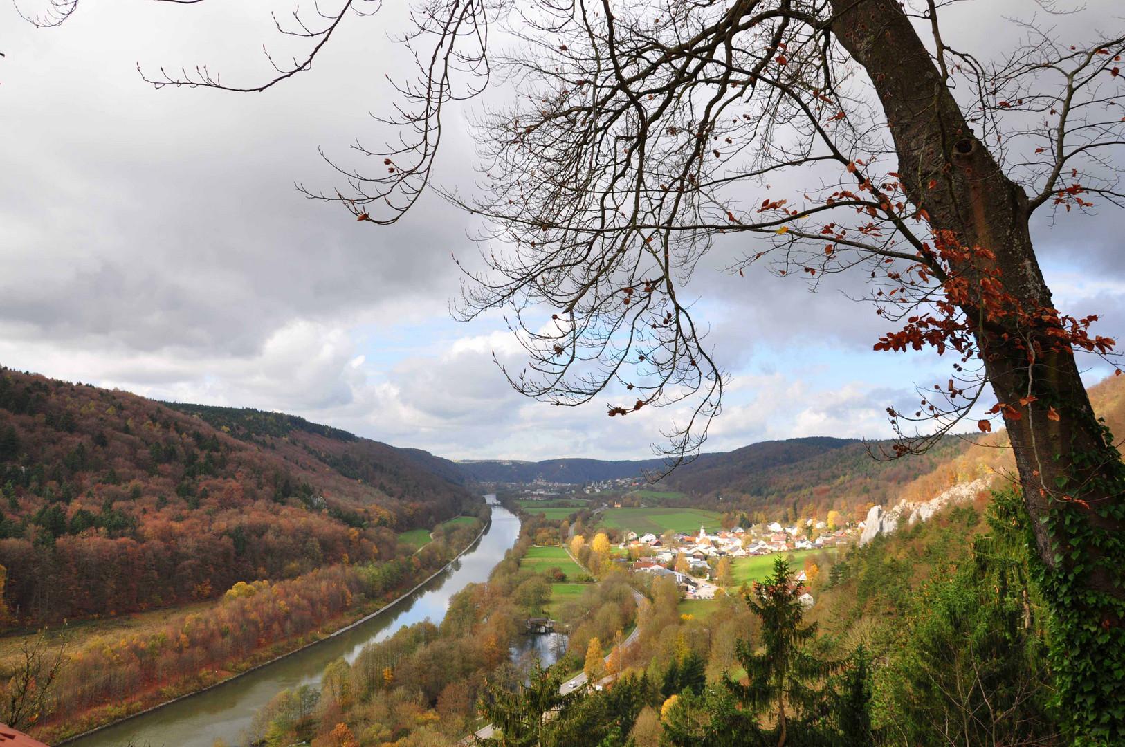 Blick von Schloss Prunn, Altmühltal