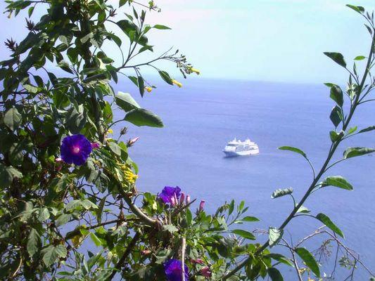 Blick von Taormina auf's Meer