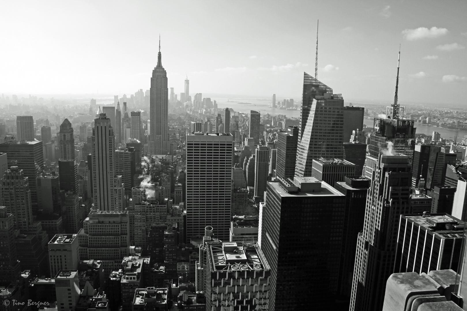 Blick von Top of the Rock nach Downtown Manhattan